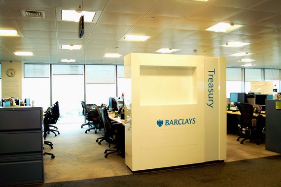 Custom office furniture. Brilliart for Barclays